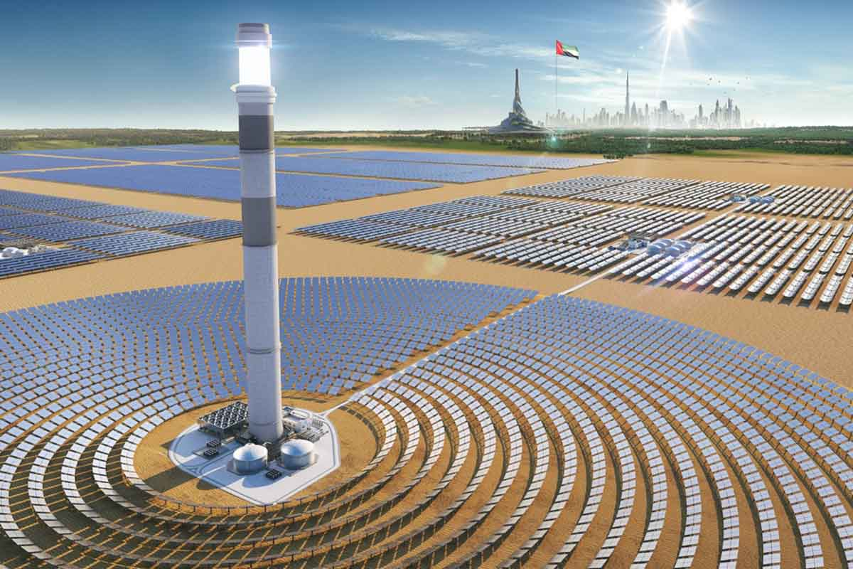 Salt Tank Hydro Test Performed for Concentrated Solar Scheme in Dubai